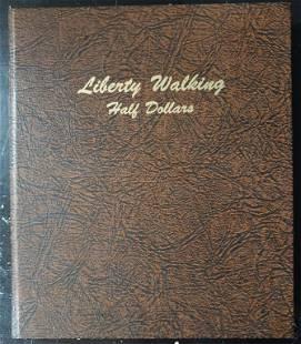 EMPTY LIBERTY WALKING HALF $ DANSCO ALBUM