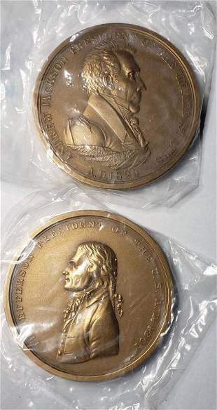 2-3 INCH PEACE AND FREEDOM BRONZE MEDALS