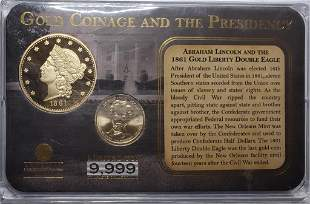 AMERICAN MINT LINCOLN GOLD COINAGE AND