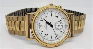 Movado Mens Gold Toned Wrist Watch