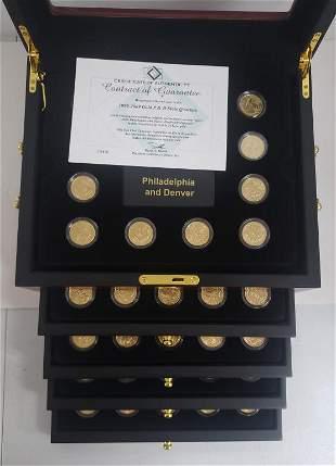 1999 thru 2009 24k GOLD LAYERED STATE QTR SET