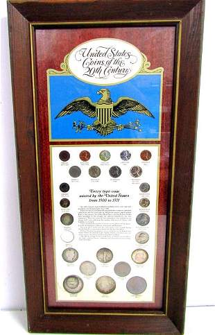 U.S. COINS of the 20th CENTURY FRAMED SET