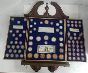 THE HISTORICAL U.S. COIN COLLECTION FRAMED