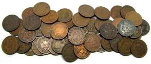 50 INDIAN CENT LOT - GREAT MIX