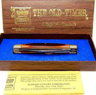 THE OLD-TIMER SCHRADE POCKET KNIFE