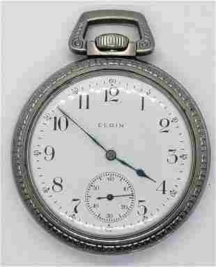 Antique 1914 Elgin Pocket Watch Grade 386 17J 16S