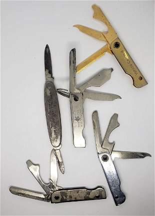 (5) ADVERTISING POCKET KNIVES