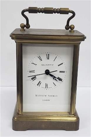 Vintage Matthew Norman Quartz Carriage Clock