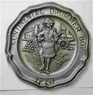 Drummer Boy 1773 Pewter Wall Plate