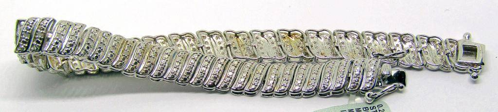 NEW WITH TAGS! 7.5 INCH TENNIS STERLING BRACELET