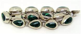 TO-90 MEXICO STERLING PANEL BRACELET WITH