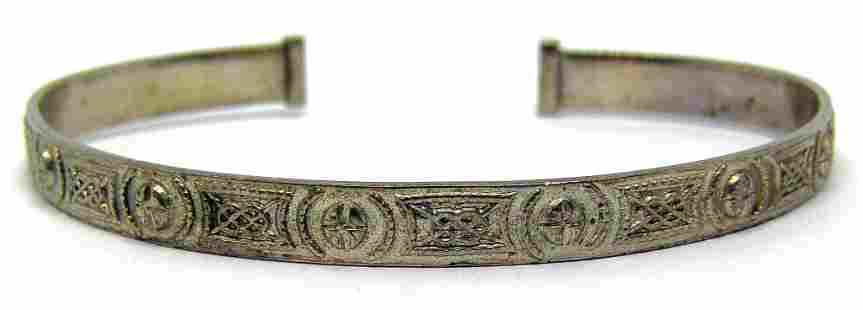 STERLING CUFF WITH ENGRAVED DESIGN