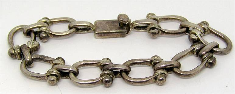 MEXICO STERLING PANEL BRACELET WITH MARKING