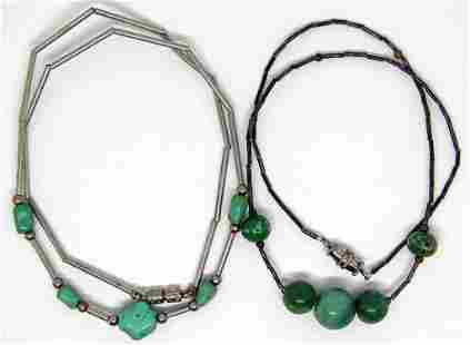 2-LIQUID STERLING NECKLACES