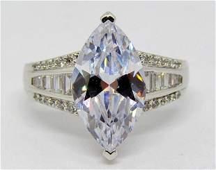 BOB MACKIE 925 ART DECO DIAMONESK RING