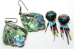 2-PAIRS OF SOUTHWESTER PIERCED DANGLY