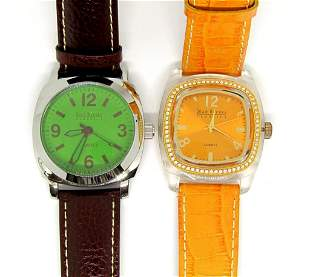 2-VINTAGE JOAN RIVERS WATCHES W/ LEATHER