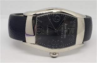 VINTAGE JOAN RIVERS CUFF LEATHER WATCH