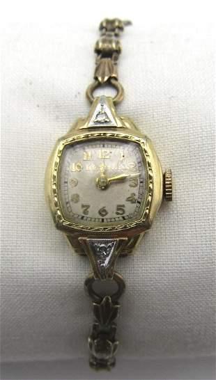 1943 Women's Bulova 10K Gold Filled Wristwatch