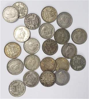 (22) GREAT BRITAIN SIXPENCE SILVER COINS