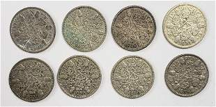 (8) GREAT BRITAIN SIXPENCE 1928-1936