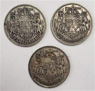 1940, 1941, 1942 GREAT BRITAIN 50 CENTS