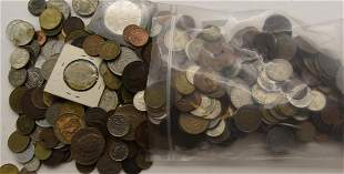 5 POUNDS FOREIGN COINS - GREAT MIX
