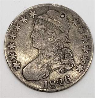1826 Capped Bust Half Dollar - Holed