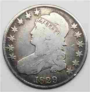 1829 Capped Bust Half Dollar - Lettered Edge
