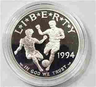 1994 S WORLD CUP SILVER PROOF COMMEM