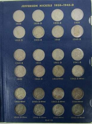 Complete Set 1938-1964 Jefferson Nickels