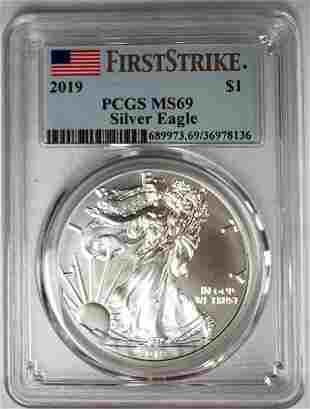 2019 Silver Eagle First Strike PCGS MS69