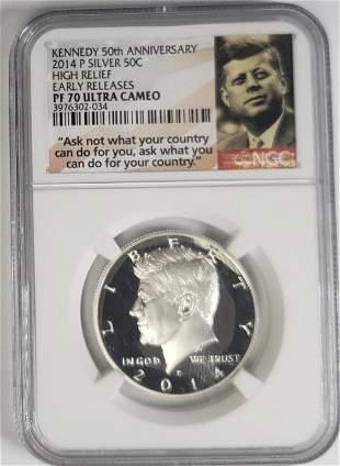2014 P Kennedy Silver Half Dollar Anniversary
