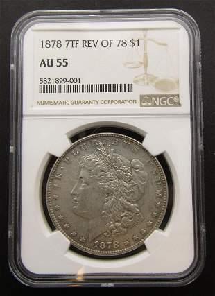 1878 7TF REV OBV 78 Morgan Silver Dollar