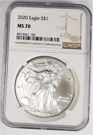2020 American Silver Eagle NGC MS70