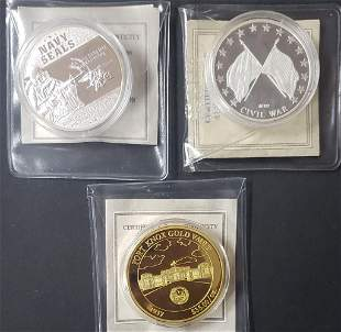 3-AMERICAN MINT COINS: NAVY SEALS