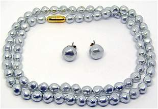 MATCHING NECKLACE & EARRINGS MARKED AVON!