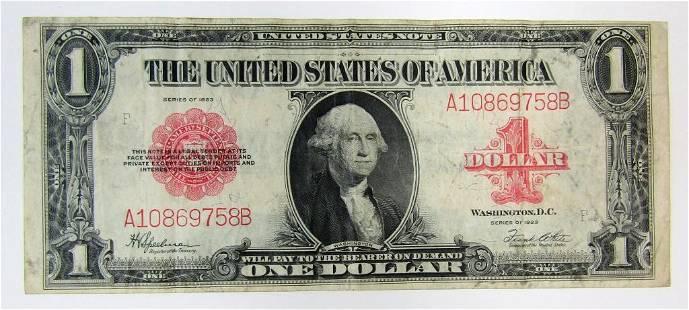 1923 $1 U.S. NOTE RED SEAL LEGAL TENDER