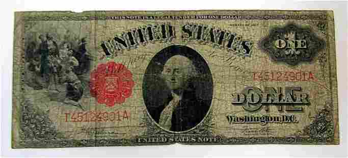 1917 $1 U.S. LEGAL TENDER LARGE SIZE NOTE