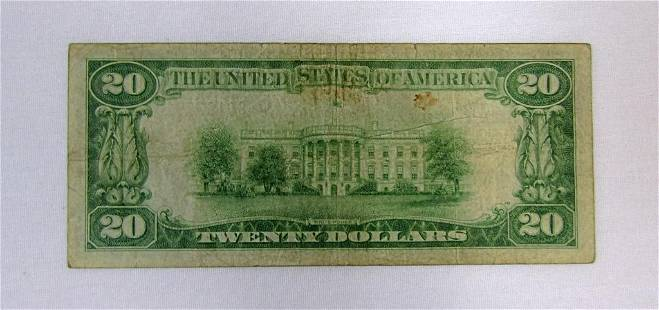 1929 $20 NATIONAL CURRENCY CHICAGO IL