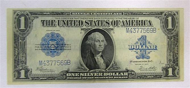 1923 $1 SILVER CERTIFICATE LARGE SIZE NOTE