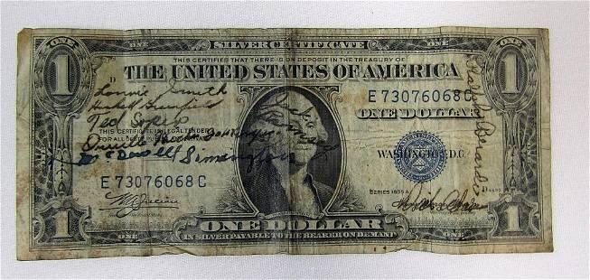 1935 $1 SHORT SNORTER SILVER CERTIFICATE