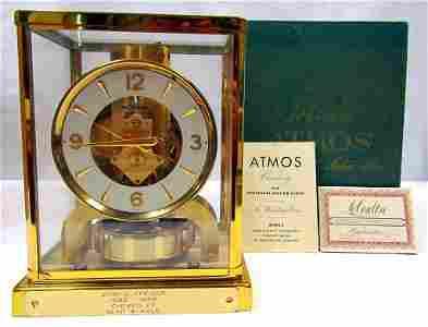 Vintage Atmos LeCoultre Mantle Clock