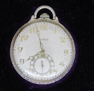 LORD ELGIN 12 SIZE 14kt WHITE GOLD