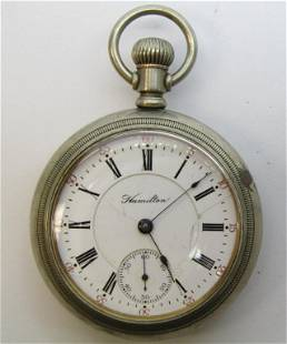 18 SIZE HAMILTON SWING OUT POCKET WATCH