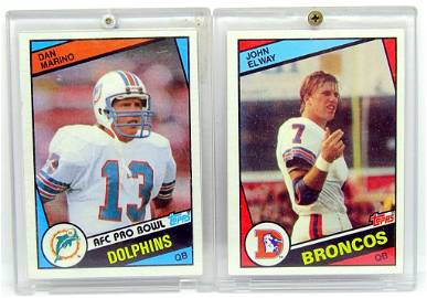 1984 TOPPS ELWAY & MARINO ROOKIE CARDS