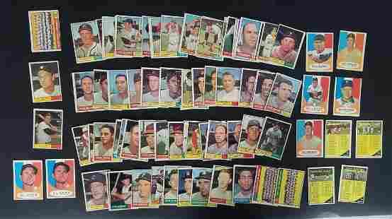 89-1961 TOPPS BASEBALL CARDS