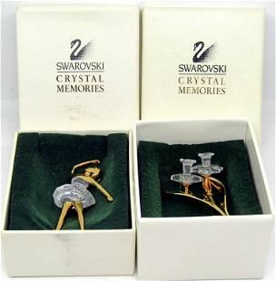 (2) SWAROVSKI CRYSTAL MEMORIES PIECES