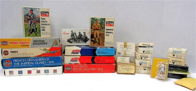 LOT OF MODEL FIGURES, SOLDIERS, MINIATURES & MORE!