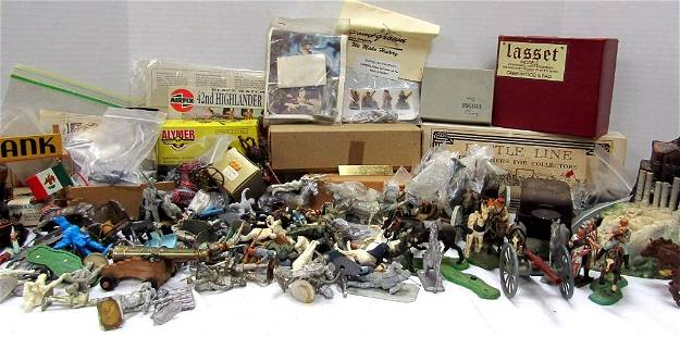 LARGE LOT OF CAST IRON/METAL SOLDIERS & MORE!